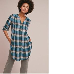 new Anthropologie Lucie Plaid Tunic